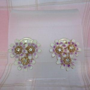 Sarah Coventry Wild Flower Clip Earrings 1950s